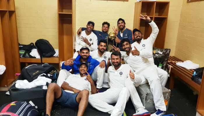 Watch: Epic celebrations of Team India after historic win vs Australia
