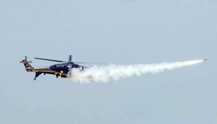 Developed by HAL, Light Combat Helicopter completes air-to-air missile firing test