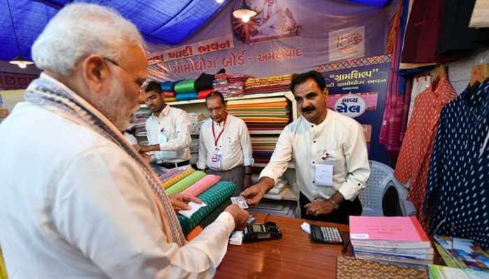 Couldn't resist shopping: PM Modi buys Khadi jacket, pays with RuPay card