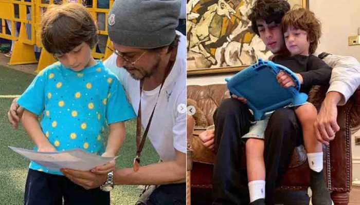 Shah Rukh Khan shares playboys' mantra in this picture with Aryan, AbRam Khan — Take a look