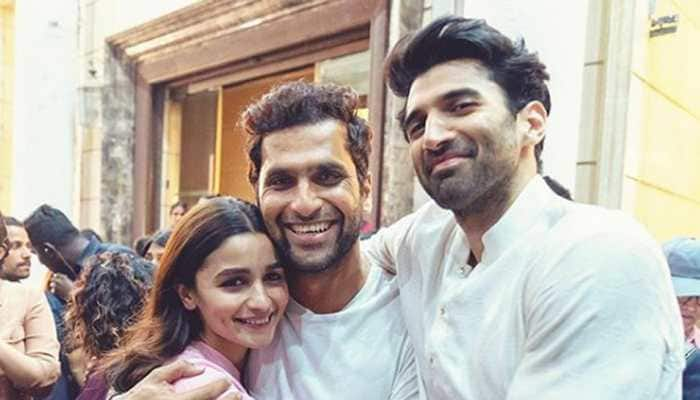 Alia Bhatt shares a cutesy click with Abhishek Varman and Aditya Roy Kapoor post wrapping up 'Kalank'