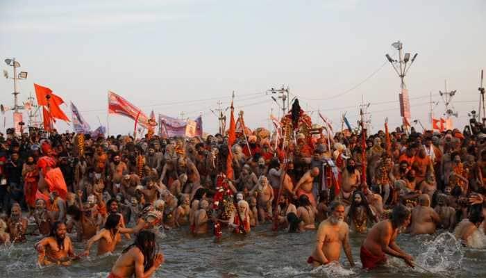 Second auspicious bath of Kumbh on Monday on Paush Purnima
