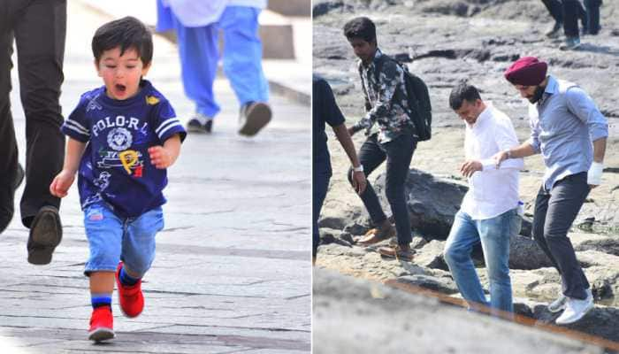 Taimur Ali Khan shows up on the sets of daddy Saif Ali Khan's 'Sacred Games 2' and we are loving it!