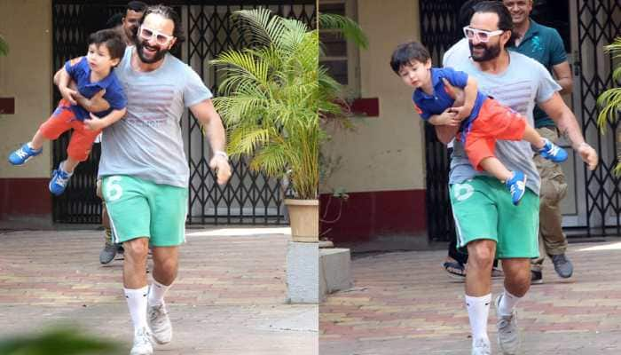 Daddy Saif Ali Khan turns Taimur's playmate for the day and the pics are adorable!