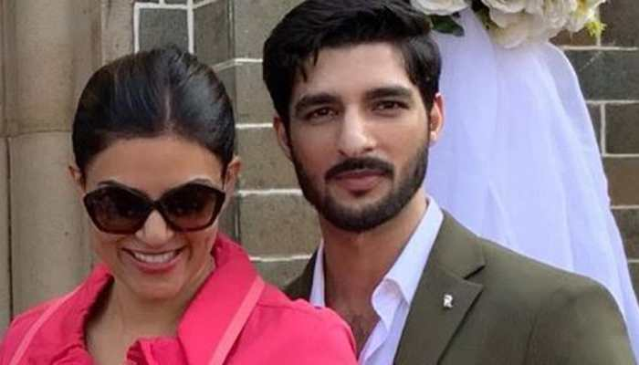 Sushmita Sen's boyfriend Rohman Shawl participates as Alisah's father in race-Watch