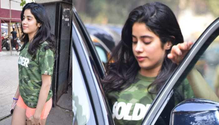 Janhvi Kapoor spotted outside gym and it's her 'soldier' tee which catches attention