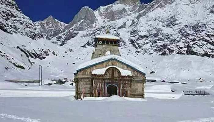 Uttarakhand: Kedarnath Temple turns white after heavy snowfall in Rudraprayag