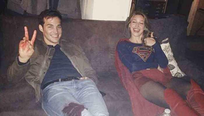 Melissa Benoist, Chris Wood engaged