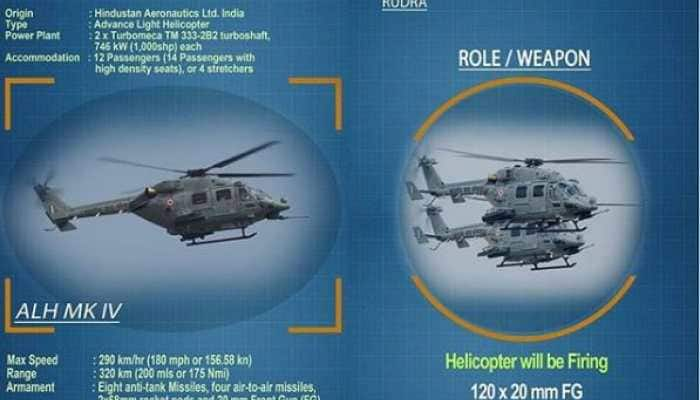 IAF's Armed Advanced Light helicopter Rudra to showcase its multi-role capability at Vayushakti 2019