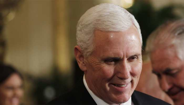 Mike Pence, at summit, lashes out at Europeans over Iran