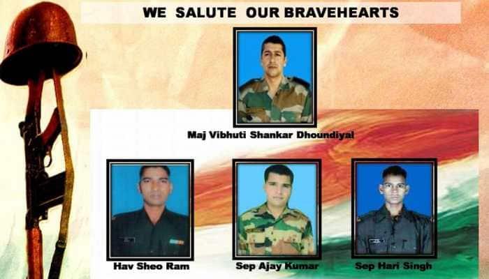 Major Vibhuti Shankar Dhoundiyal, three soldiers martyred in Pulwama encounter, confirms Army