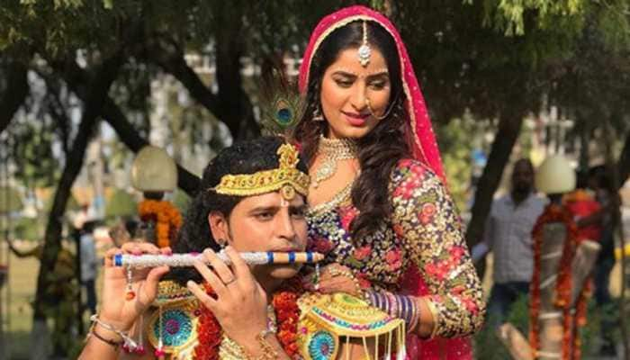 Poonam Dubey-Rakesh Mishra turn Radha-Krishna for a new song—See pic