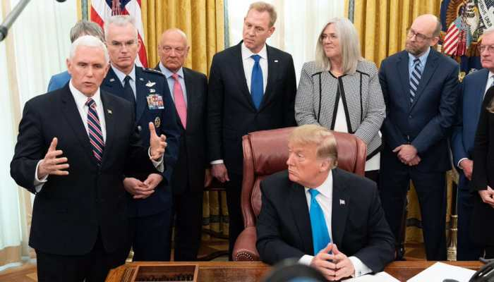 Donald Trump signs order to establish US Space Force as 6th military branch