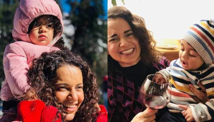 Kangana Ranaut playing with nephew Prithvi is too cute for words—Watch