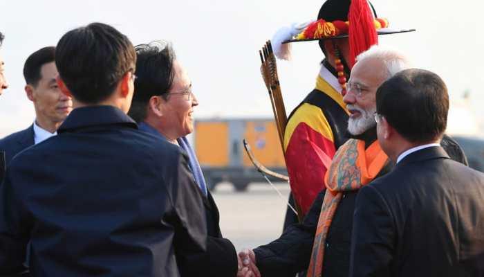 PM Narendra Modi arrives in South Korea, to receive Seoul Peace Prize