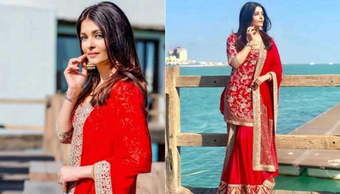 Aishwarya Rai Bachchan looks as gorgeous as a new bride in radiating red Manish Malhotra creation—See pics
