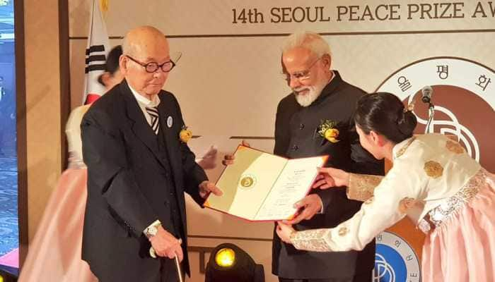 PM Modi awarded Seoul Peace Prize, dedicates it to the nation