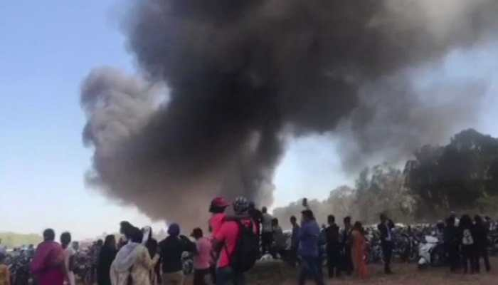 WATCH: Over 100 vehicles gutted in fire during Aero India show at Yelahanka Air Base