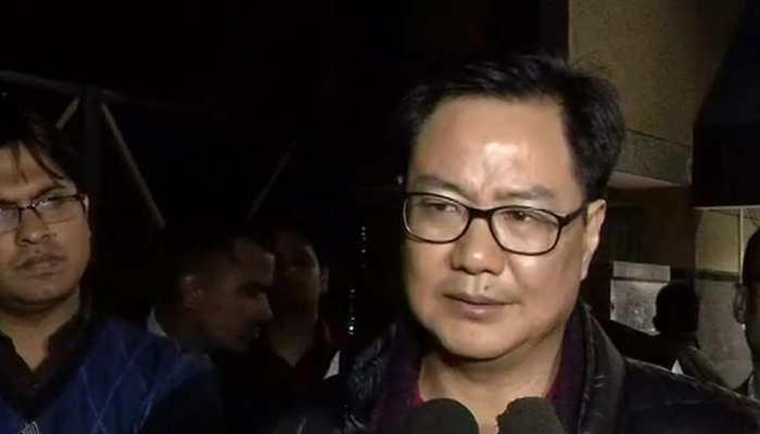 Kiren Rijiju visits injured DIG of Jammu and Kashmir Police in AIIMS