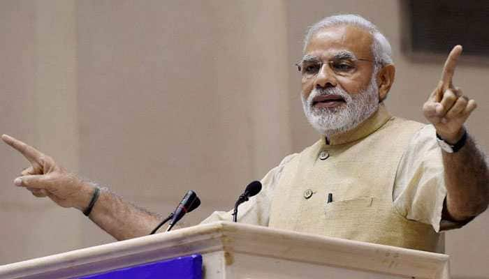 PM makes indirect reference to air strikes at Gandhi Peace Prize event