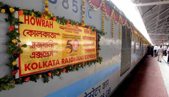 Rajdhani Express turns 50, passengers treated with 'rasgullas' on golden jubilee run