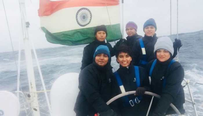 Navy chief Admiral Sunil Lanba hails all-women crew of Indian Navy's sailing vessel Tarini