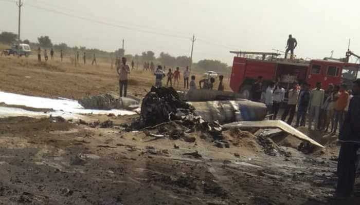 MiG-21 crashes near Rajasthan's Bikaner; pilot ejects safely