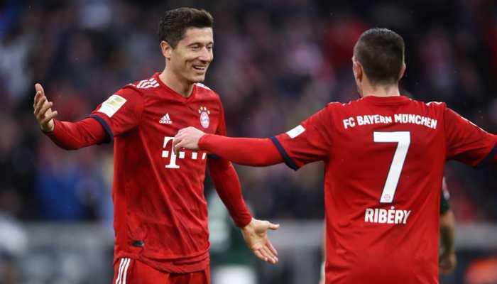 Bayern Munich crush Wolfsburg 6-0 to take over Bundesliga lead