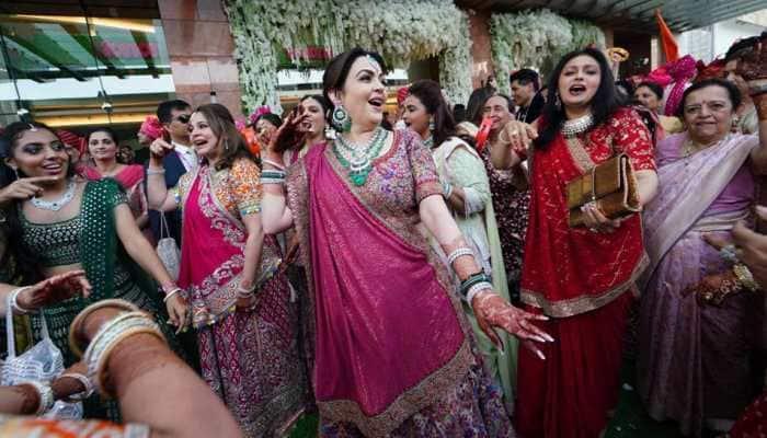 Nita Ambani's classical dance on Krishna Bhajan at son Akash Ambani's wedding celebrations is unmissable—Watch