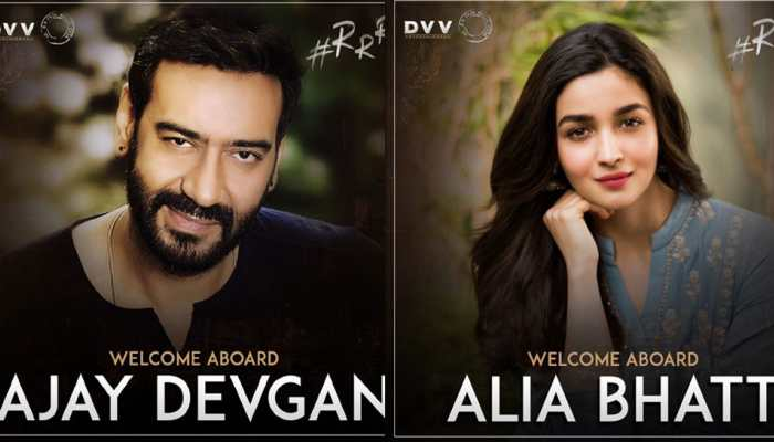 Confirmed! Alia Bhatt, Ajay Devgn in SS Rajamouli's '#RRR'; first look poster out