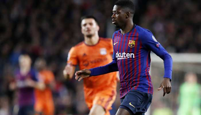 Barcelona rule injured forward Ousmane Dembele out for up to four weeks