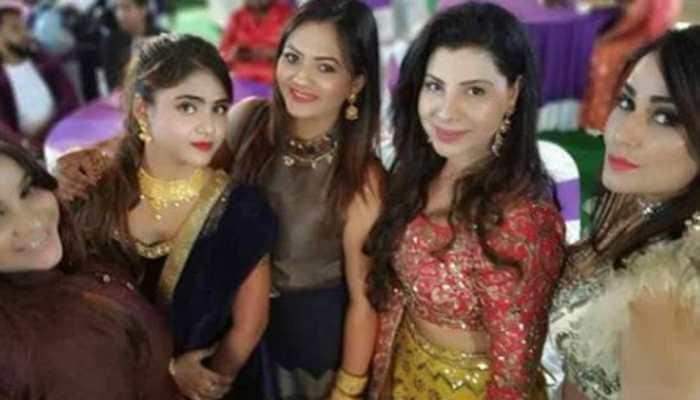 Pakhi Hegde shares the frame with Sambhavna Seth and Anara Guota at Seema Singh's wedding
