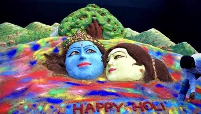 Sudarsan Pattnaik creates colourful sand art on Holi, shares pic—See inside