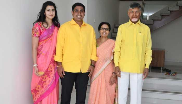 Chandrababu Nadu's son Nara Lokesh files nomination, seeks parents' blessings