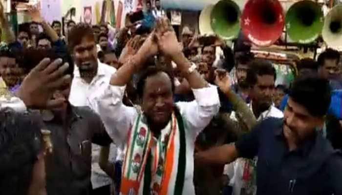 For the sake of votes: Karnataka minister does Nagin dance to woo voters