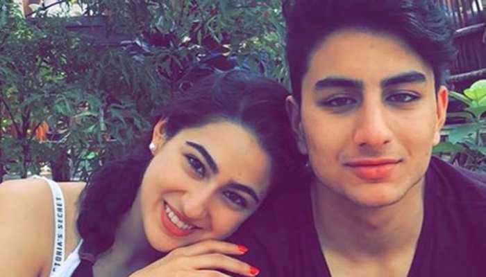 Sara Ali Khan shares unseen pics with brother Ibrahim Ali Khan on World Sibling Day!