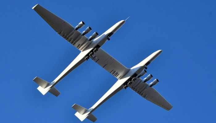World's largest plane makes first flight over California in US
