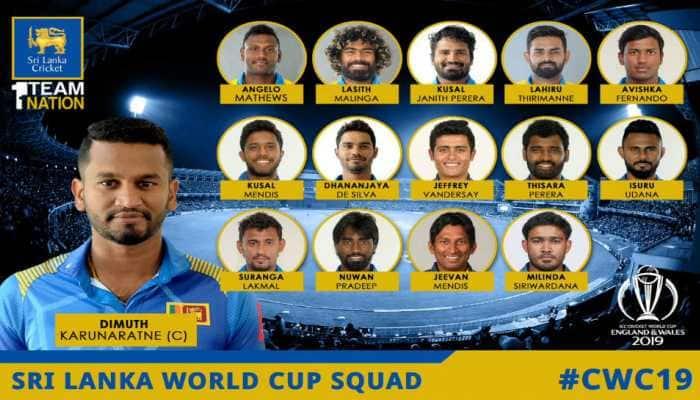 Sri Lanka announces 15-member squad for 2019 ICC World Cup