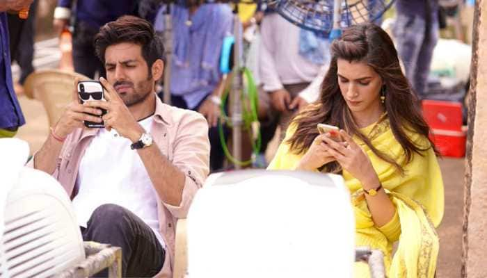 'Luka Chuppi' actors Kartik Aaryan and Kriti Sanon put an end to rumours of a tiff with the cutest Twitter banter ever!