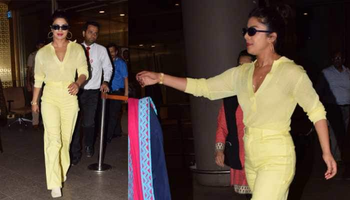 Yellow is the new black and Priyanka Chopra proves it right away! See pics