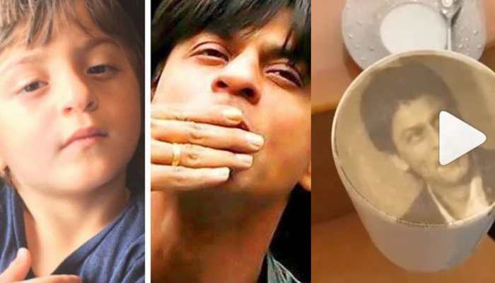 Shah Rukh Khan posts new pic with 'mini me' Abram, 'licks' himself in new video
