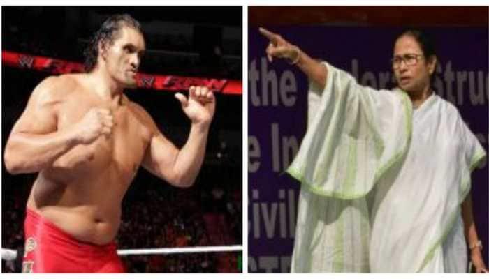 TMC writes to EC against wrestler Khali campaigning for BJP candidate in Kolkata