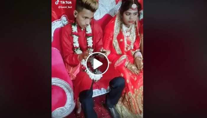 Groom plays PUBG at his own wedding, bride looks on in disbelief-Watch viral video