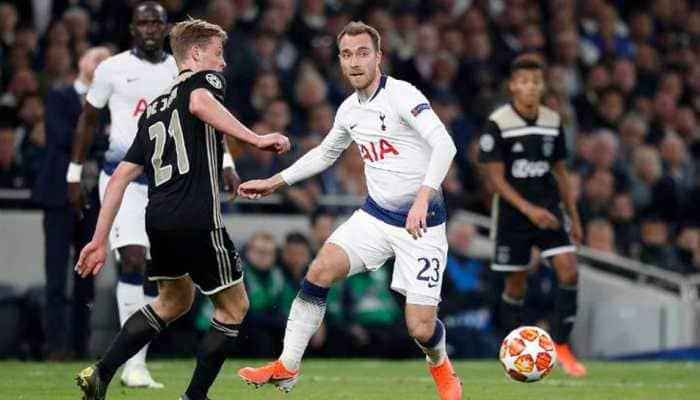UEFA Champions League: Donny van de Beek gives Ajax edge over Tottenham in semi-final