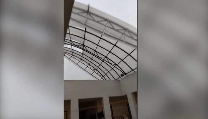 WATCH: Cyclone Fani causes extensive damage to AIIMS Bhubaneswar, roof of hostel blown away