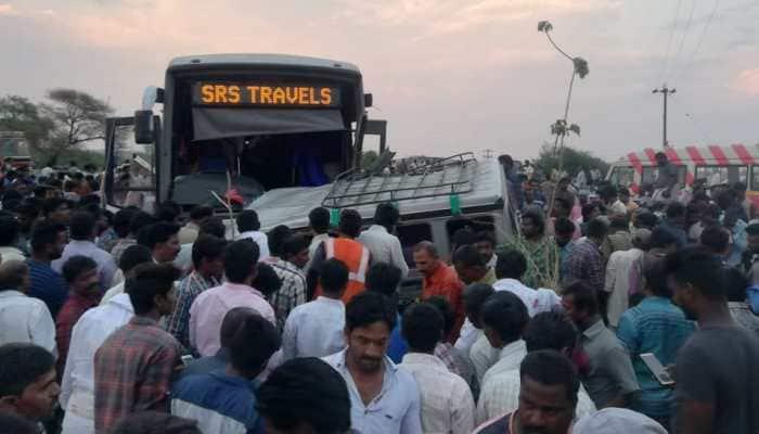 Andhra Pradesh: 10 killed, several injured as two vehicles collide in Kurnool district