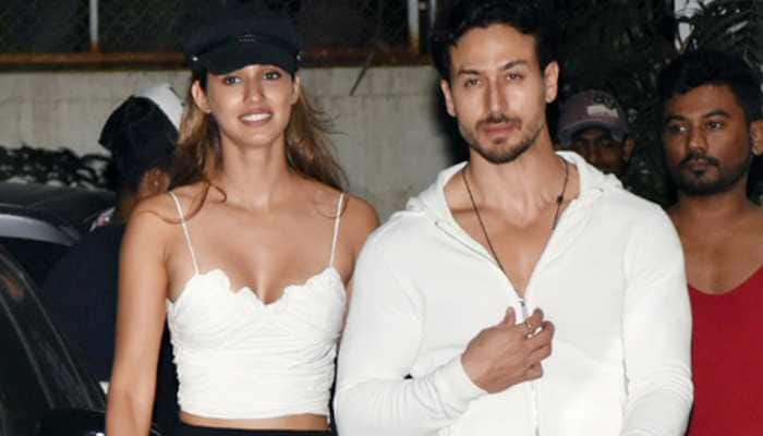 These pictures of Disha Patani and Tiger Shroff twinning in white are too cute to miss!