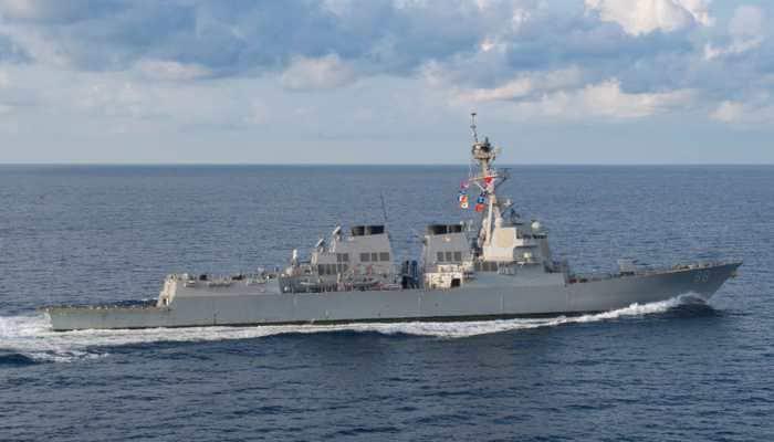US warship sails in disputed South China Sea amid increasing trade tensions