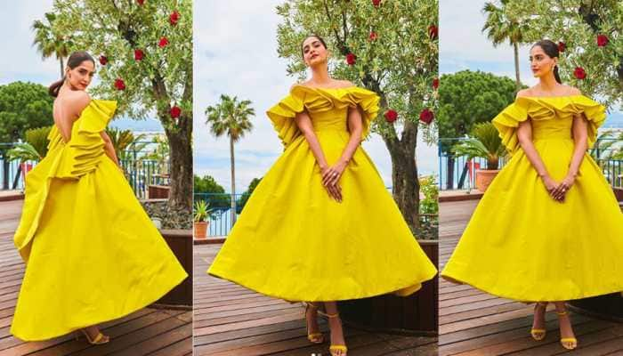 Sonam Kapoor unveils Chopard's Garden of Kings collection at Cannes in breathtaking neon gown—Pics