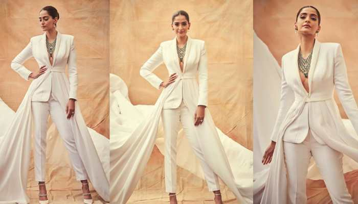 Sonam Kapoor ditches gowns, turns heads in a white custom Ralph and Russo couture tuxedo at Cannes—See pics
